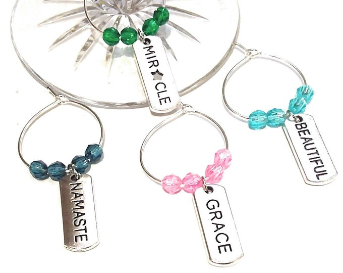 Inspirational Wine Charms - Miracle - 4 pack