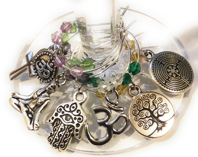 Yoga Wine Charms - 7/pack