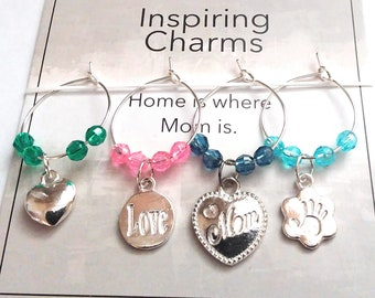 Mother's Day Gift - Home Is Where Mom Is - With Gift Card and Gift Bag - 4 per set