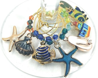 Beach Wine Charms - 8 pack