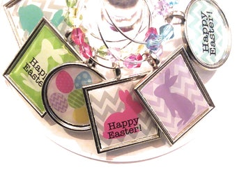 Easter Wine Glass Charms - Happy Easter! (6 Pack)