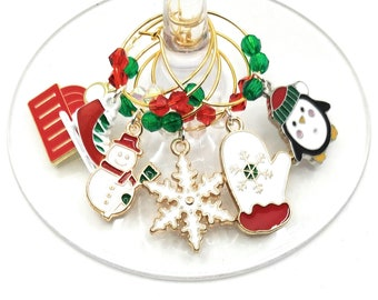 Christmas Wine Charms - Winter Wonderland 6 pack