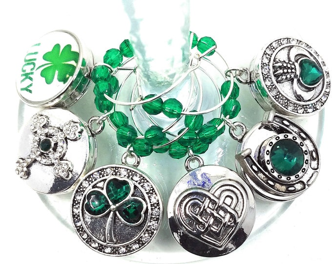 St. Patrick's Day Wine Charms - Lucky Irish - 6/pack