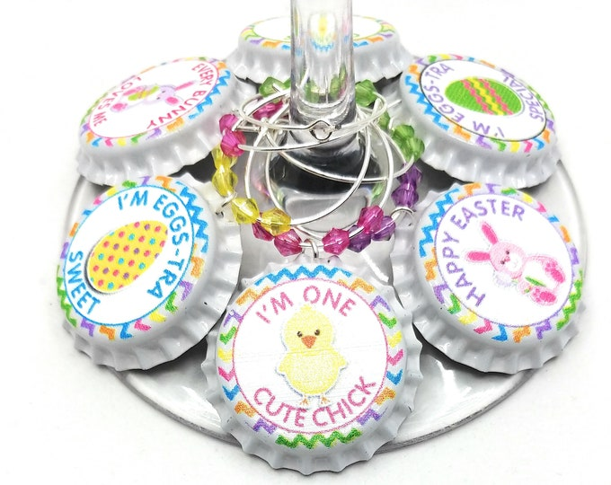 Easter Wine Glass Charms - Little Chick (8 Pack)