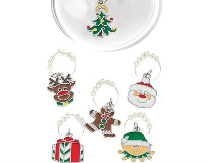 Christmas Wine Charms - Oh Deer 6 Pack