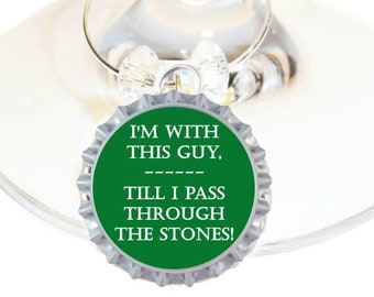 Outlander Inspired Wine Charms - Outlander Watch Party - 6 Bottle Cap Wine Charms