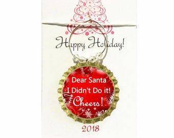 Christmas Wine Charms - Keep Calm and Be Merry Theme - Count starts at 6/order