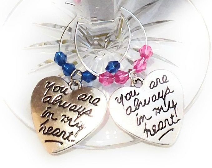 I Will Always Love You Wine Charms - Set Of 2
