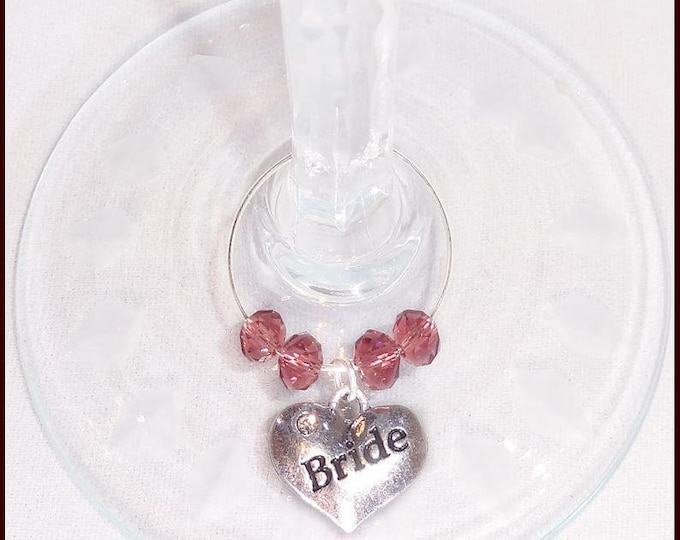 Wedding Wine Charm Personalized Gift Favors For Wedding Party - Bridal Party Position