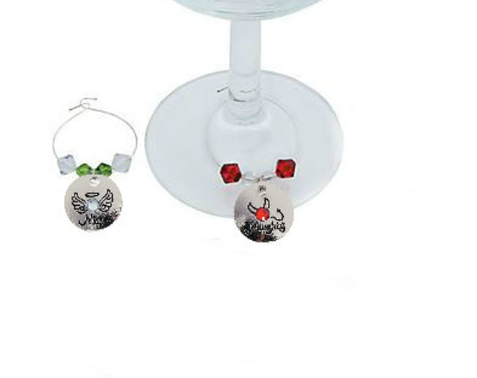 Christmas Wine Charms - Naughty and Nice - 2 Pack