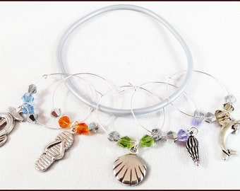Beach Wine Charms - 5 per set