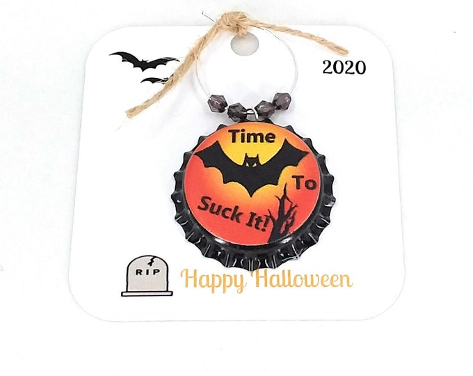 Halloween Wine Charms - The Bat Whisperer 8/Pack - Party Favor Packaging Available