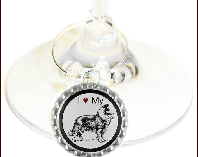 Dog Wine Charms - Pugs, Collies, Dachshund, Chihuahua, Bulldog, Boxer, Terrier, Beagle, Cocker Spaniel and more - Set Of 6