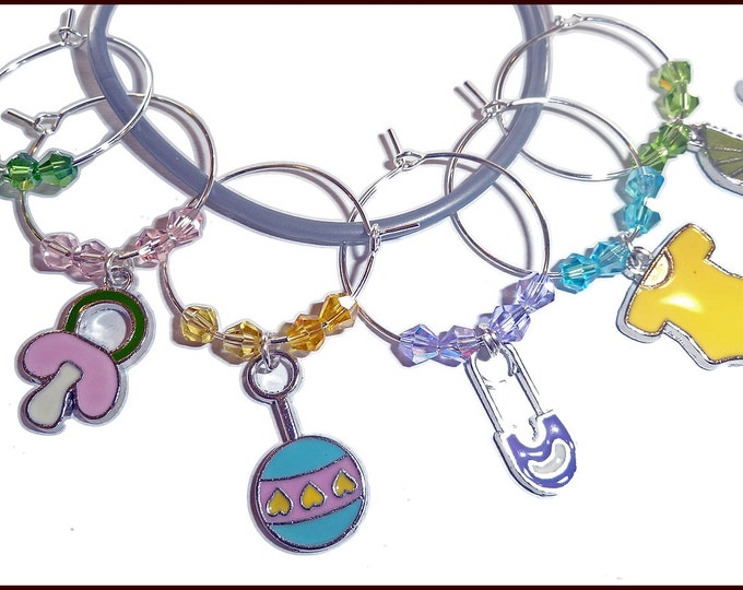 Baby Shower Wine Charms - 6 pack