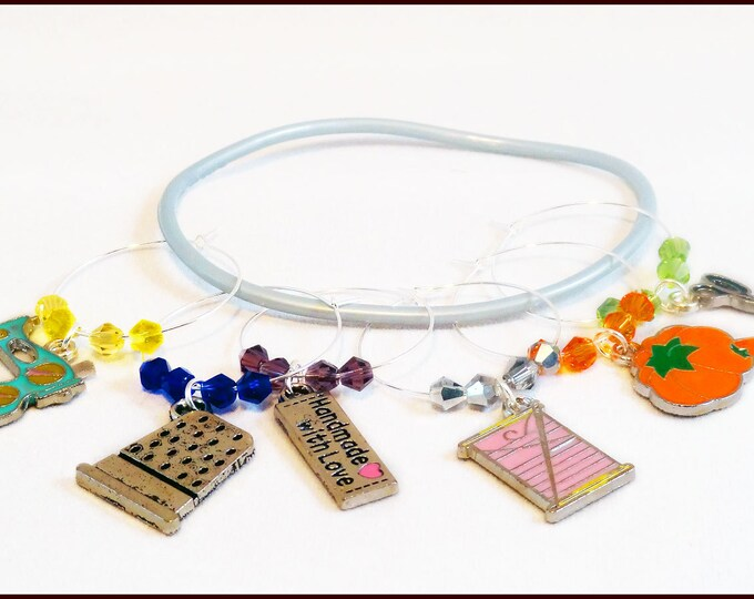 Sewing Wine Charms - 6 Per Set