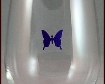 Wine Glass Decals - Butterfly - Glass Not included 8/pack
