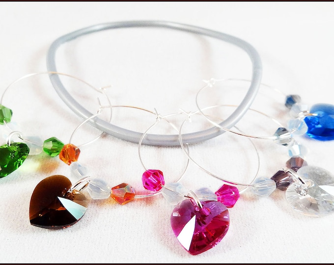 Crystal Wine Charms - Swarovski Crystal Element 5/Pack