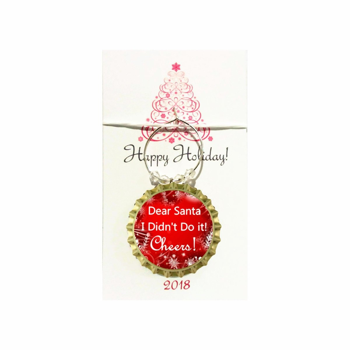 Christmas Wine Charms - Keep Calm and Be Merry Theme - Count starts ...