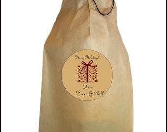 Christmas Wine Bag - Christmas Gift Bag