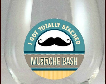 Cinco De Mayo - Mustache Bash Glass Decals, 10 pack - Glass Not included