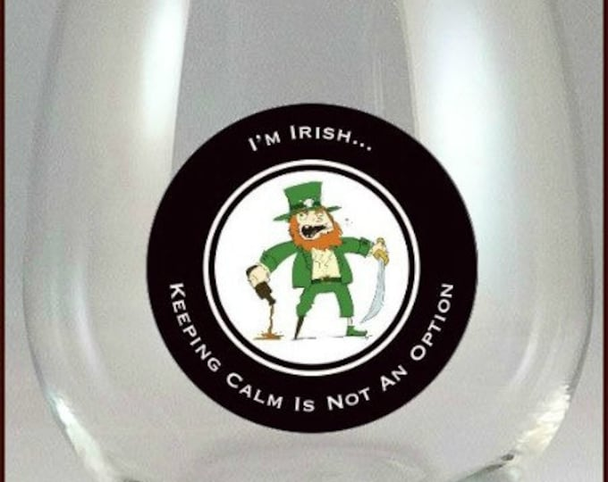 St. Patrick's Day Glass Decals, 10 pack -  Glass Not Included
