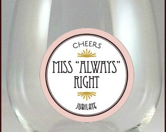Mr. and Miss Glass Decals,  Glass Not Included - 2 pack