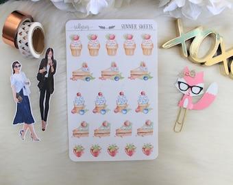 Summer Sweets, Planner Stickers, Planner Supplies