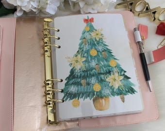 Christmas Tree, A5 Planner Dashboard,