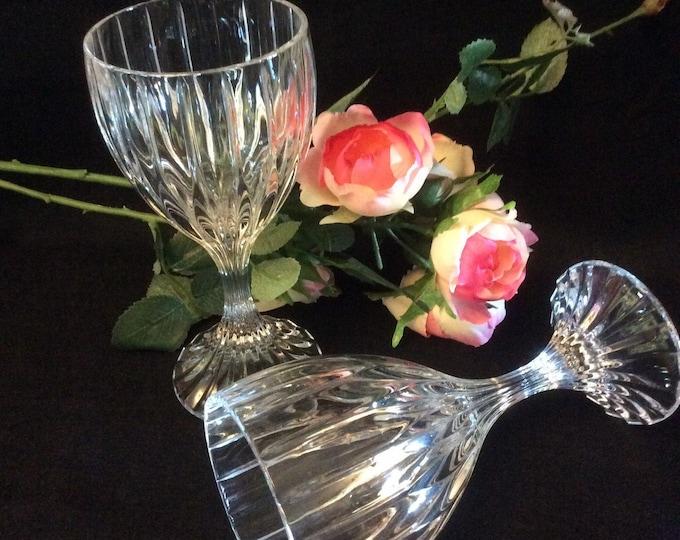 4 Mikasa Park Lane Crystal Water Goblets