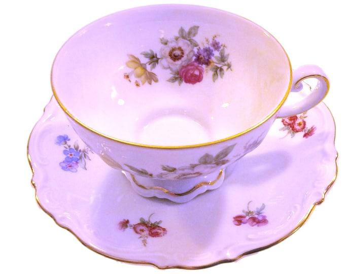 Teacup and Saucer | Mitterteich German Teacup Set