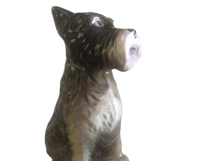 Inarco Dog Figurine | Vintage Schnauzer Dog Figurine | Terrier Statue | Gift Under 50 | Made In Japan