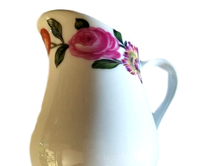 Porcelaine De Paris   French Porcelain Creamer   Les Quatre Saisons
