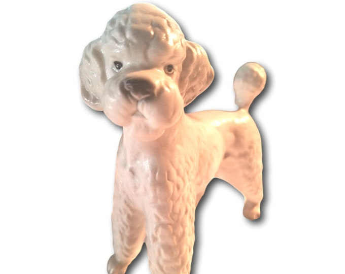 Dog Figurine | French Poodle | White Poodle