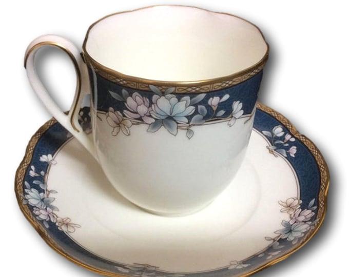 1980s Teacup and Saucer Set | Noritake China | Discontinued Sandhurst