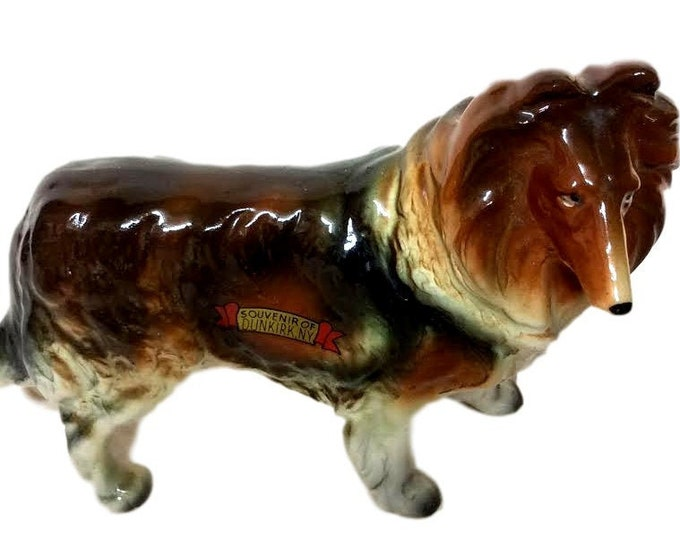 Dog Figurine | Vintage Ucago Figurine | Dog Figurine | Souvenir of Dunkirk, NY | Sheltie