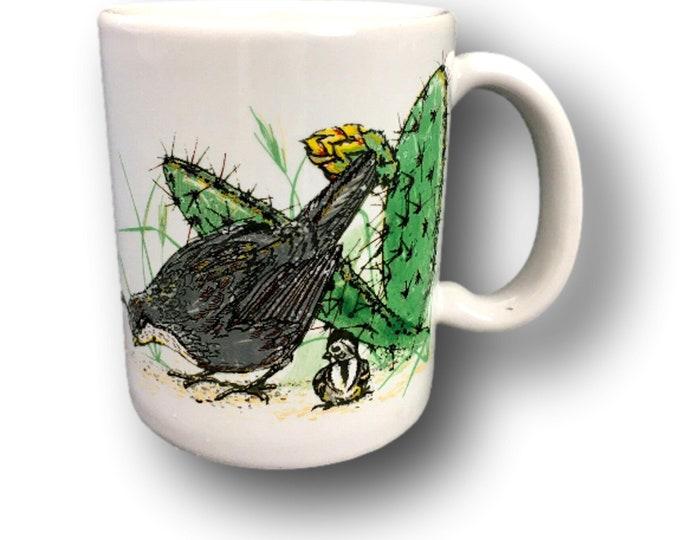 Gift Under 50   Kay Mallek Original   Vintage Coffee Mug   Quail Coffee Mug   Bird Coffee Mug   Wildlife Coffee Mug   Gift Under 30