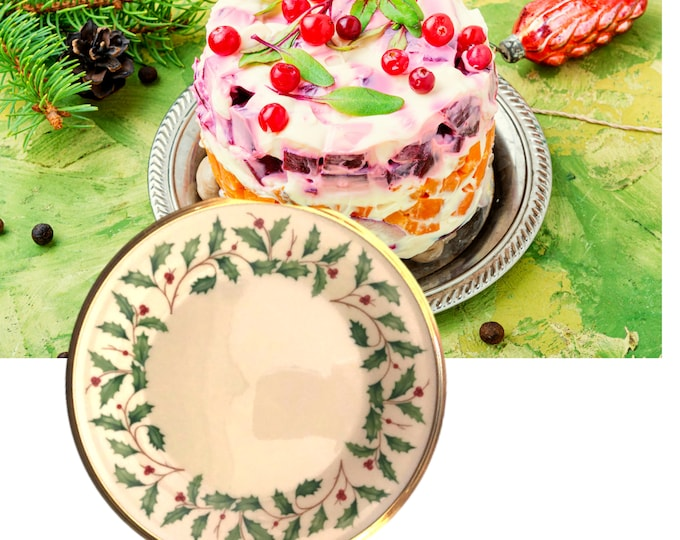 "Salad Plate | Lenox Dimensions Holiday |  8.25"" Diameter"
