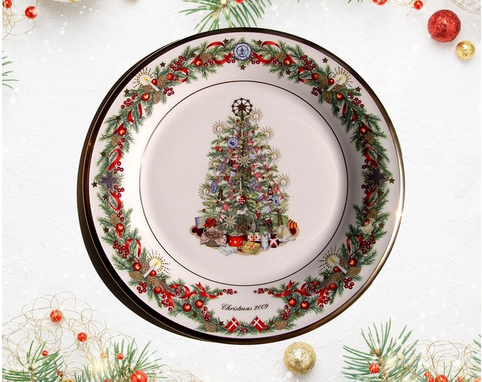 Lenox Trees Around the World Collector Plate Denmark