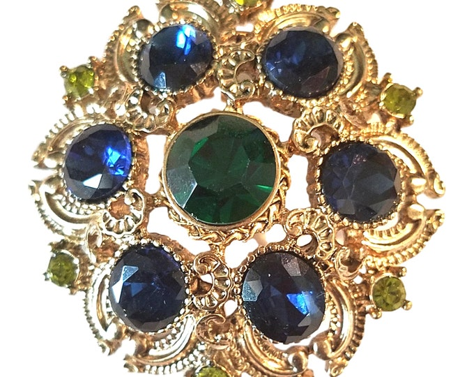 Vintage Rhinestone Brooch by Sequin | Gift Under 50