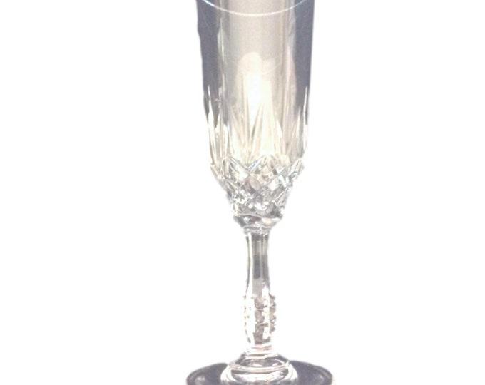 Vintage Champagne Flutes   Set 4 Crystal Stemware Glasses   Champagne Clear Cut Flutes