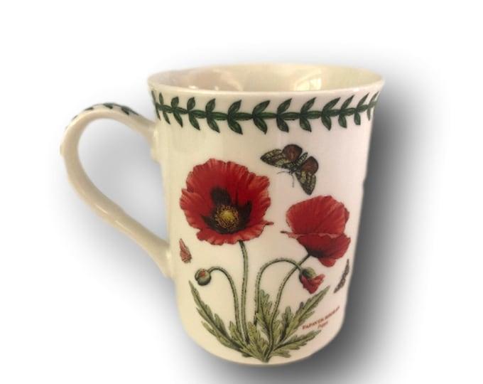 Portmeirion Botanic Garden Mug   Floral Red Popppy Mug    Poppies Butterfly Mug   Gift Under 30