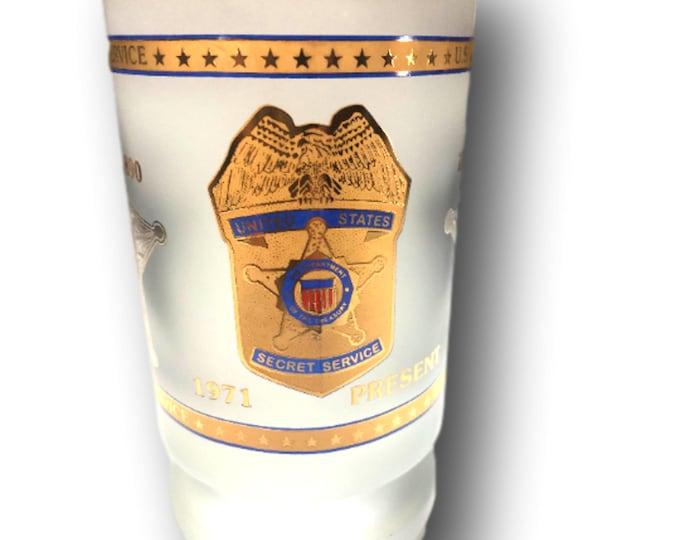 Gifts Under 30   Frosted Beer Mug    U.S. Secret Service   Beer Glass Stein