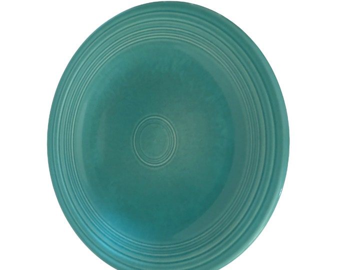 Vintage Pottery Dishes | Turquoise Pottery Dishes | Fiestaware Turquoise Dinner Plate | Fiesta Ware Plate