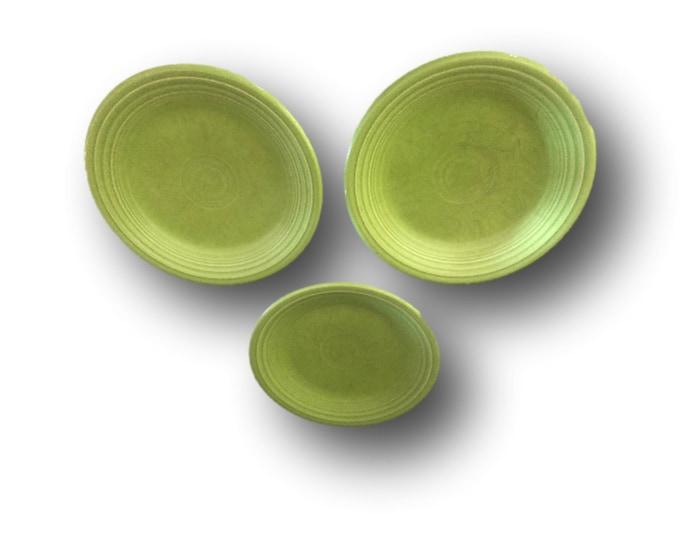 Vintage Fiestaware Plate | Fiesta Chartreuse Bread Butter Plate | Used Homer Laughlin Table Ware | Fiesta Ware Side Plate
