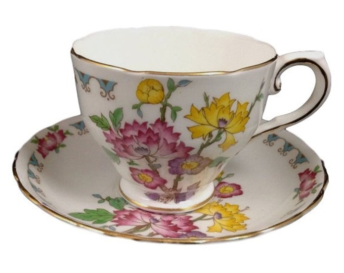 Tuscan Teacup Saucer English Fine Bone China Floral Gift For Her