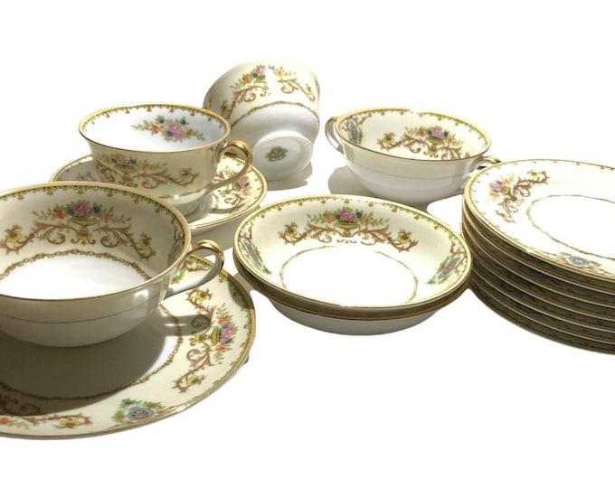 Antique Noritake China | Noritake Morimura Arabella | Noritake 18 Piece Tableware Set | Circa 1915