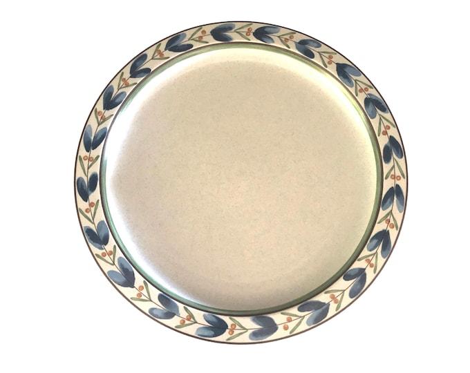 Vintage Dinner Plates | Set of 4 | Mikasa | Potter's Touch | Blue Fleur | CB014