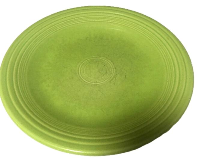 Vintage Fiesta Ware Plate | Fiesta Chartreuse Dinner Plate | Used Homer Laughlin Table Ware | Fiestaware