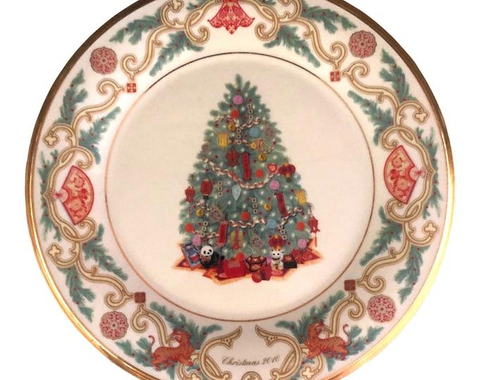 China Christmas Tree | Lenox Wall Plate | China Christmas Tree | Around the World Plate | Annual Christmas Tree Plate | Collector Plate