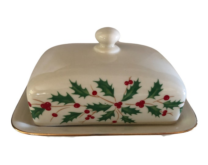 Butter Dish With Lid | Christmas Butter Dish | Lenox Covered Butter Dish